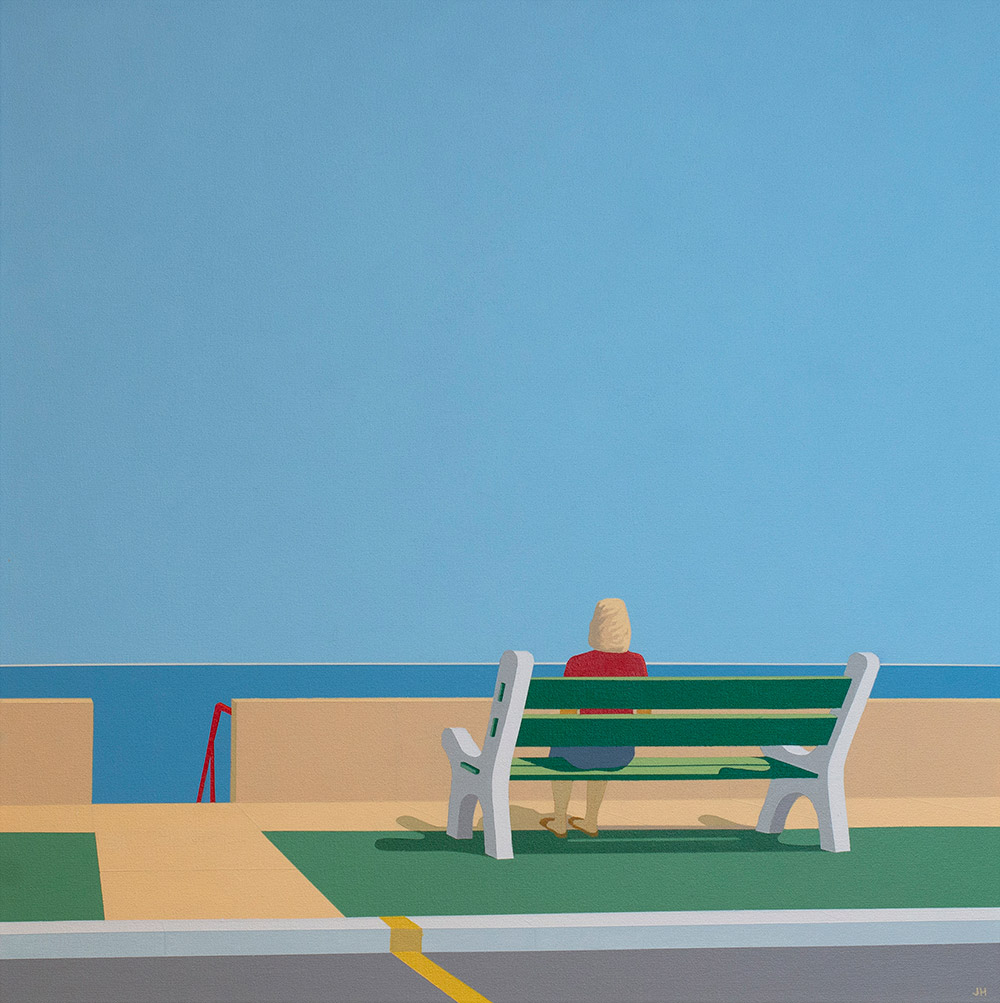 Beach Town Scenes Depicted With Zen-like Simplicity In Jim Houser Exhibition