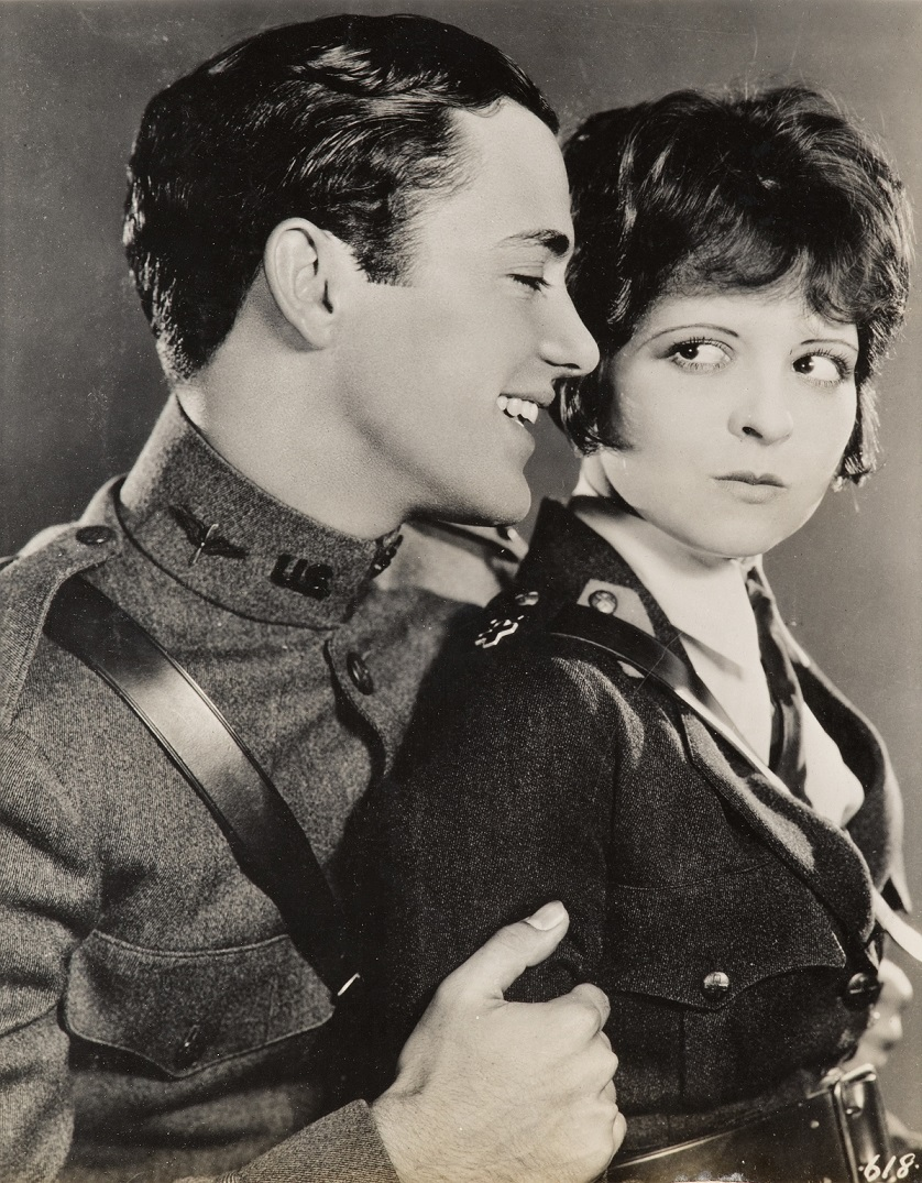 """Charles """"Buddy"""" Rogers and Clara Bow, Wings (1927), Paramount Famous Lasky Corporation, Directed by William Wellman"""